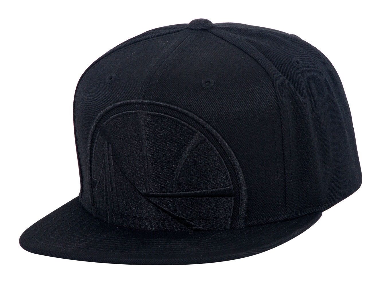 official photos c5758 9c446 Mitchell   Ness Cropped XL Logo Snapback - Golden State Warriors - Black