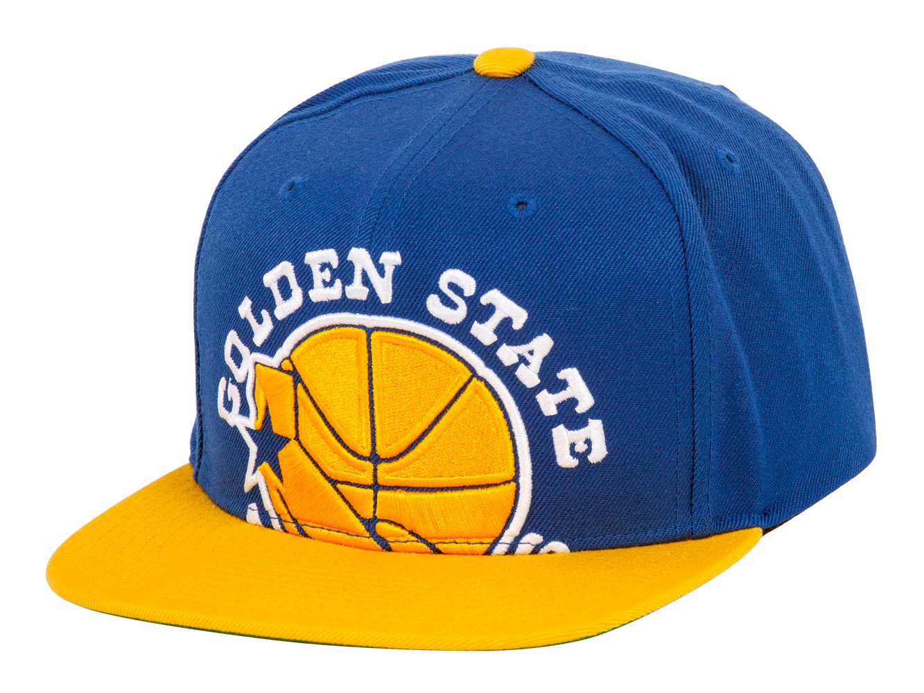best service 4f1bb 29cf0 Details about Mitchell   Ness Cropped XL Logo Snapback - Golden State  Warriors - Royal Yellow