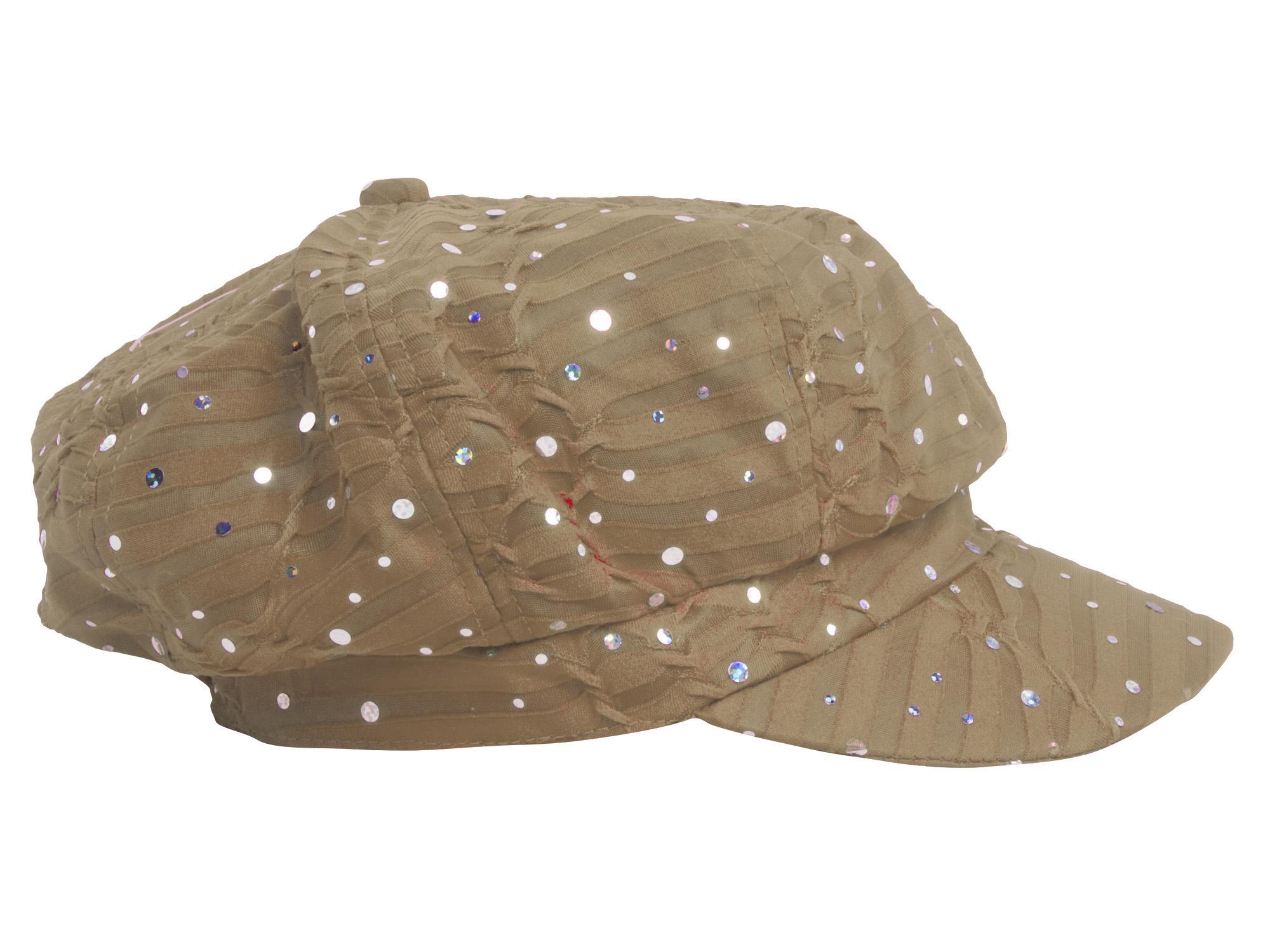 Women-039-s-Glitter-Sequin-Trim-Newsboy-Style-Relaxed-Fit-Hat-Cap thumbnail 6