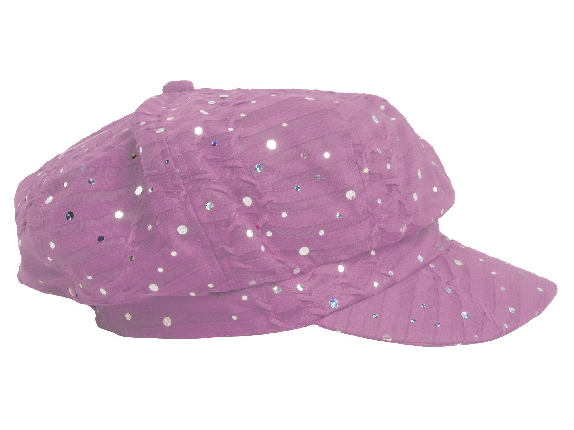 Women-039-s-Glitter-Sequin-Trim-Newsboy-Style-Relaxed-Fit-Hat-Cap thumbnail 19