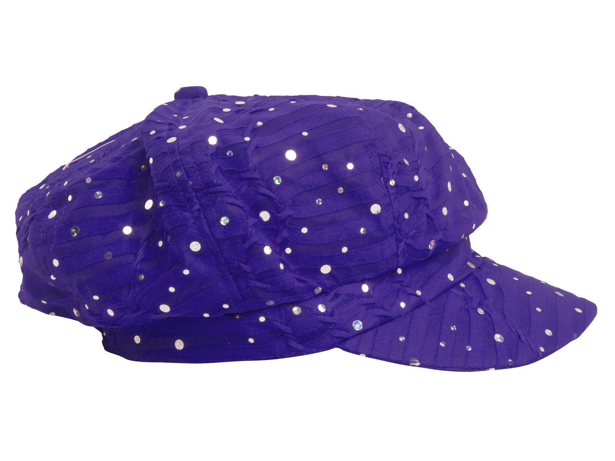 Women-039-s-Glitter-Sequin-Trim-Newsboy-Style-Relaxed-Fit-Hat-Cap thumbnail 23