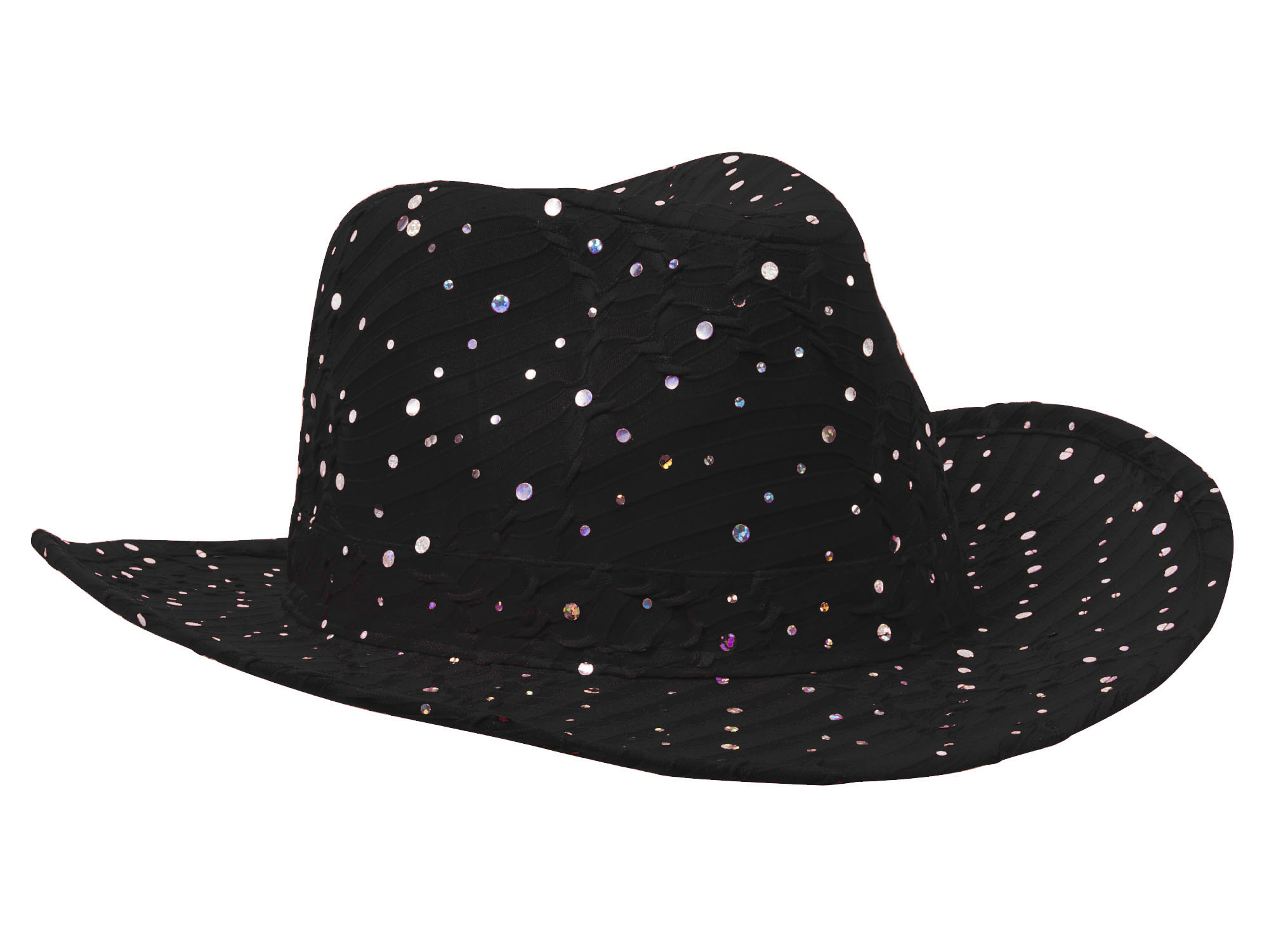 Glitter-Sequin-Trim-Cowboy-Hat thumbnail 5