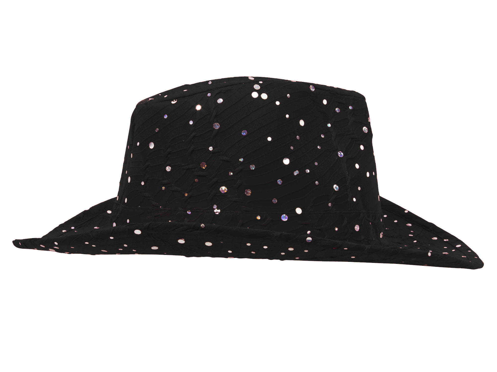 Glitter-Sequin-Trim-Cowboy-Hat thumbnail 6