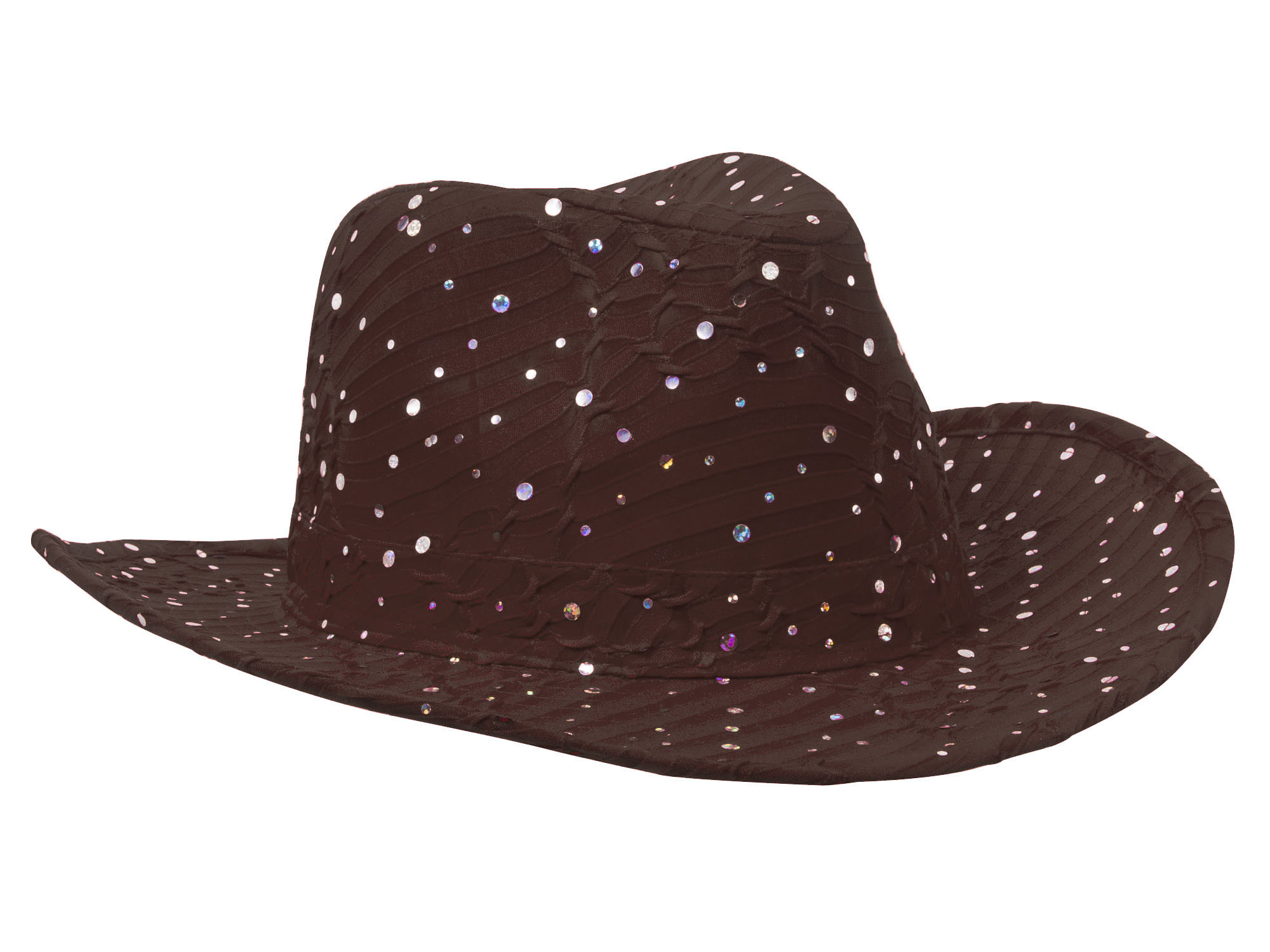 Glitter-Sequin-Trim-Cowboy-Hat thumbnail 9