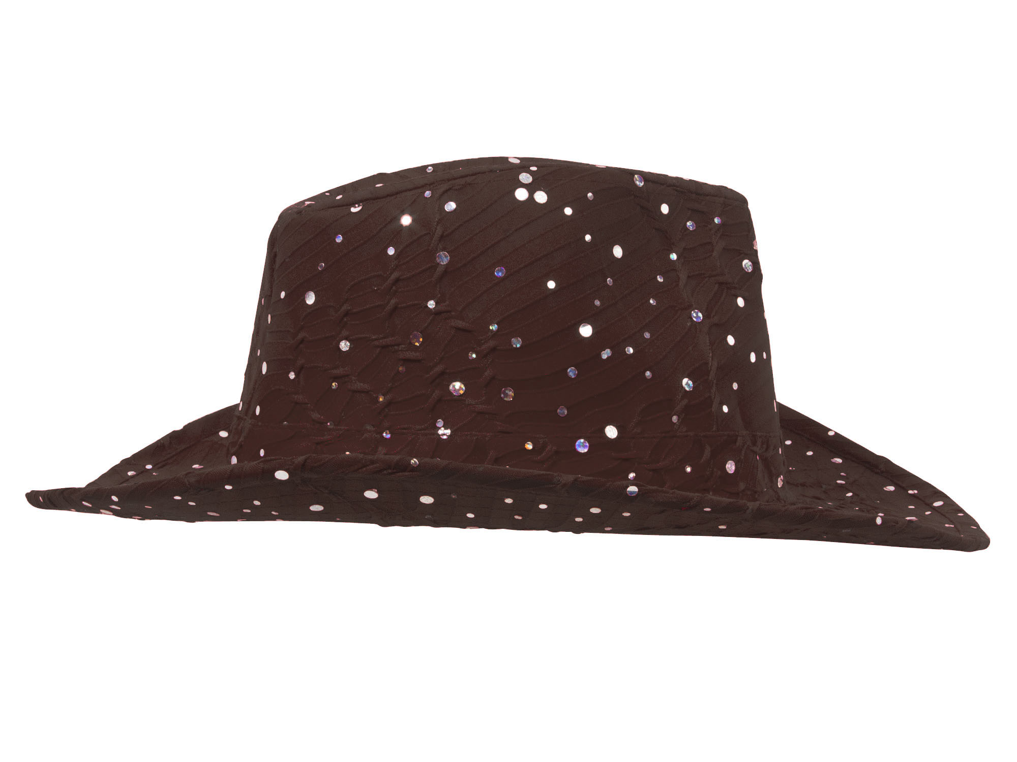 Glitter-Sequin-Trim-Cowboy-Hat thumbnail 10