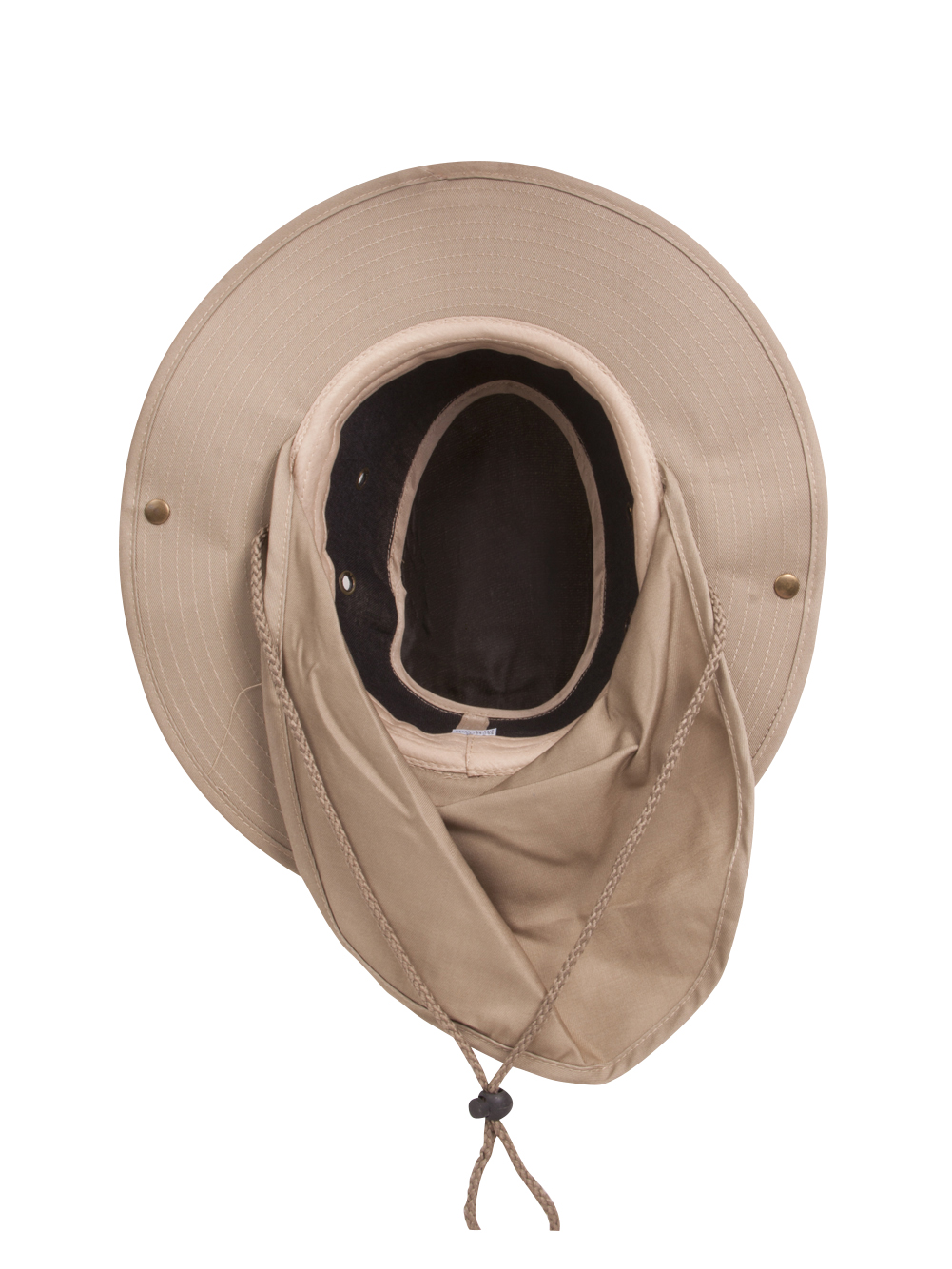 Top Headwear Safari Explorer Bucket Hat With Flap Neck Cover - Beige ... 31cd1ed02398