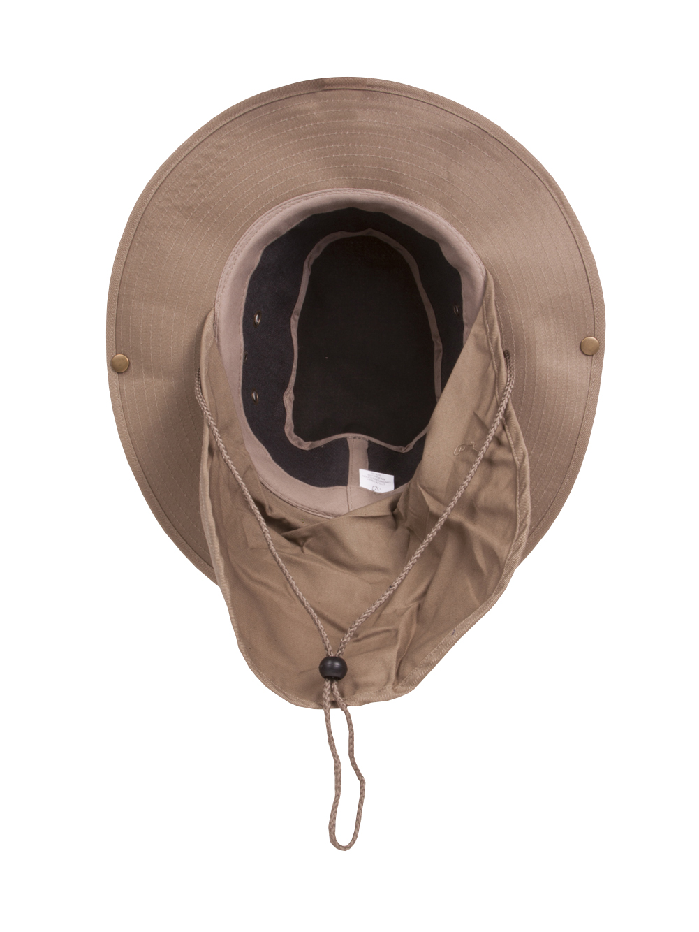 fb989a9272e Top Headwear Safari Explorer Bucket Hat With Flap Neck Cover - Khaki - Small
