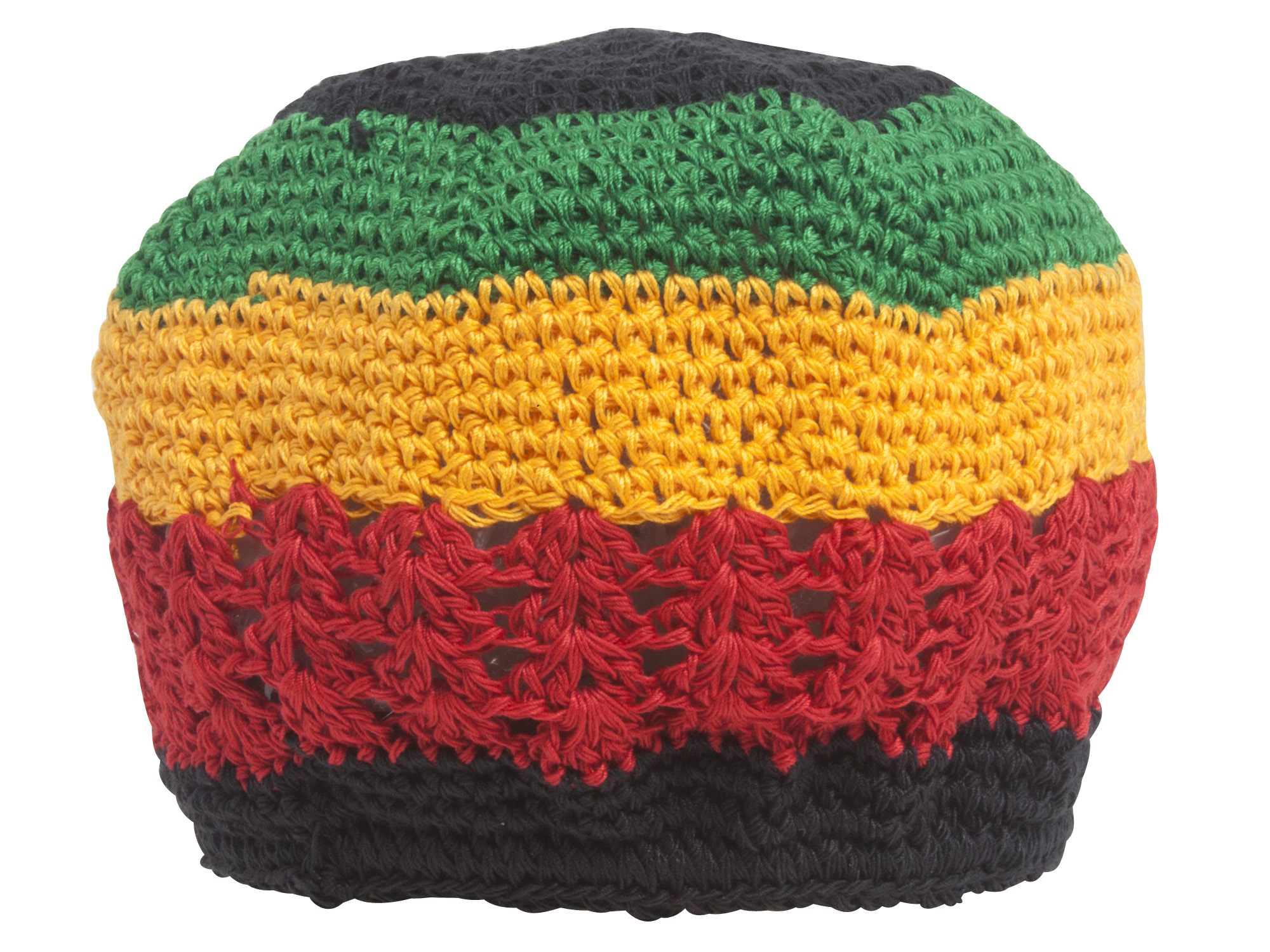 Hand Crocheted Beanie - Rasta  ce5bc6241b2