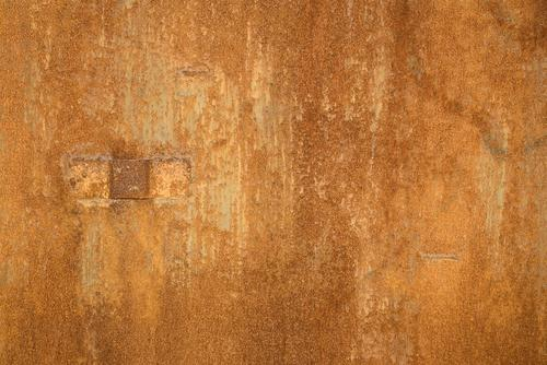 Corten steel closeup