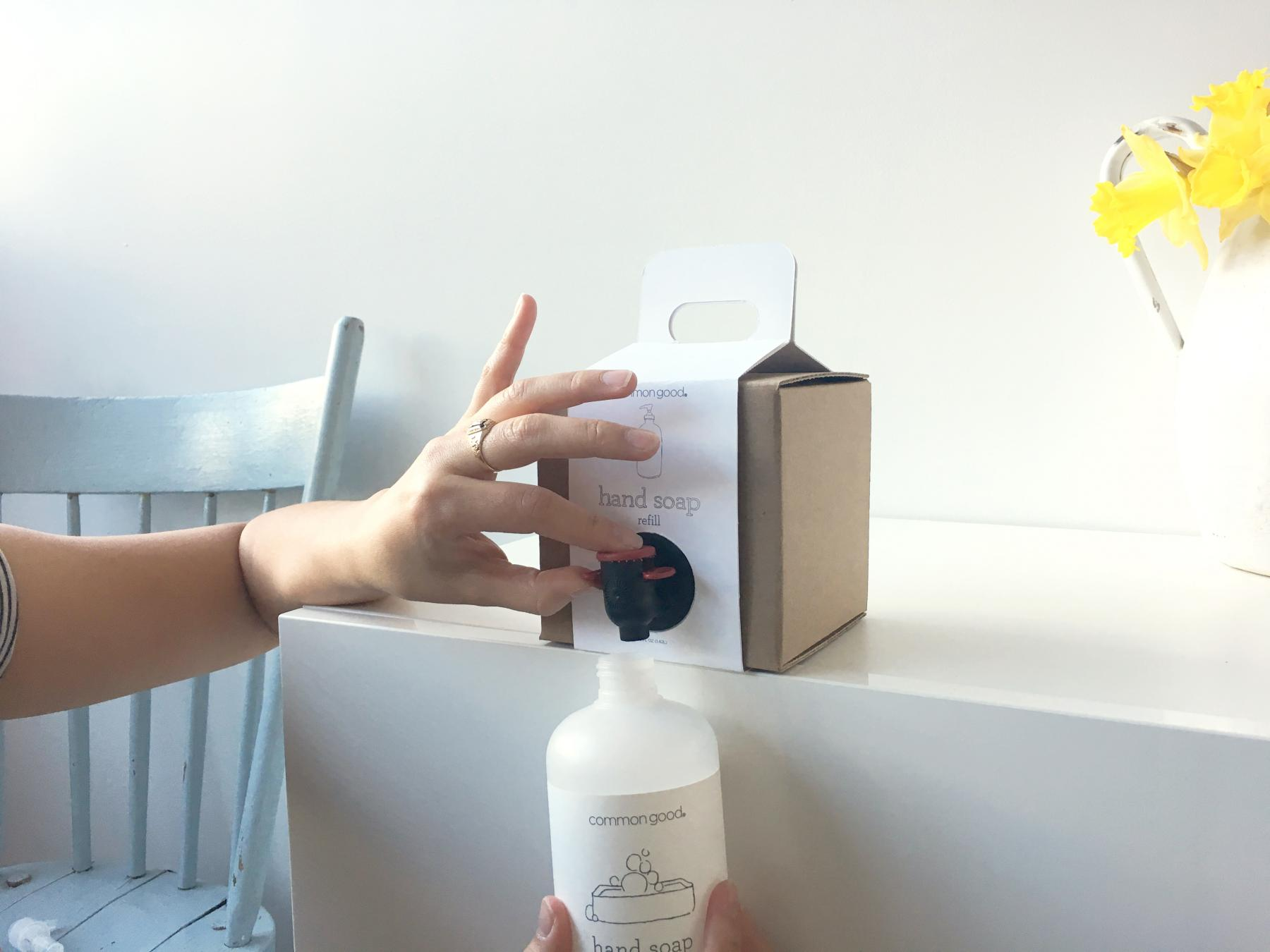 common good refillable soap