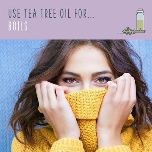 tea tree oil for boils