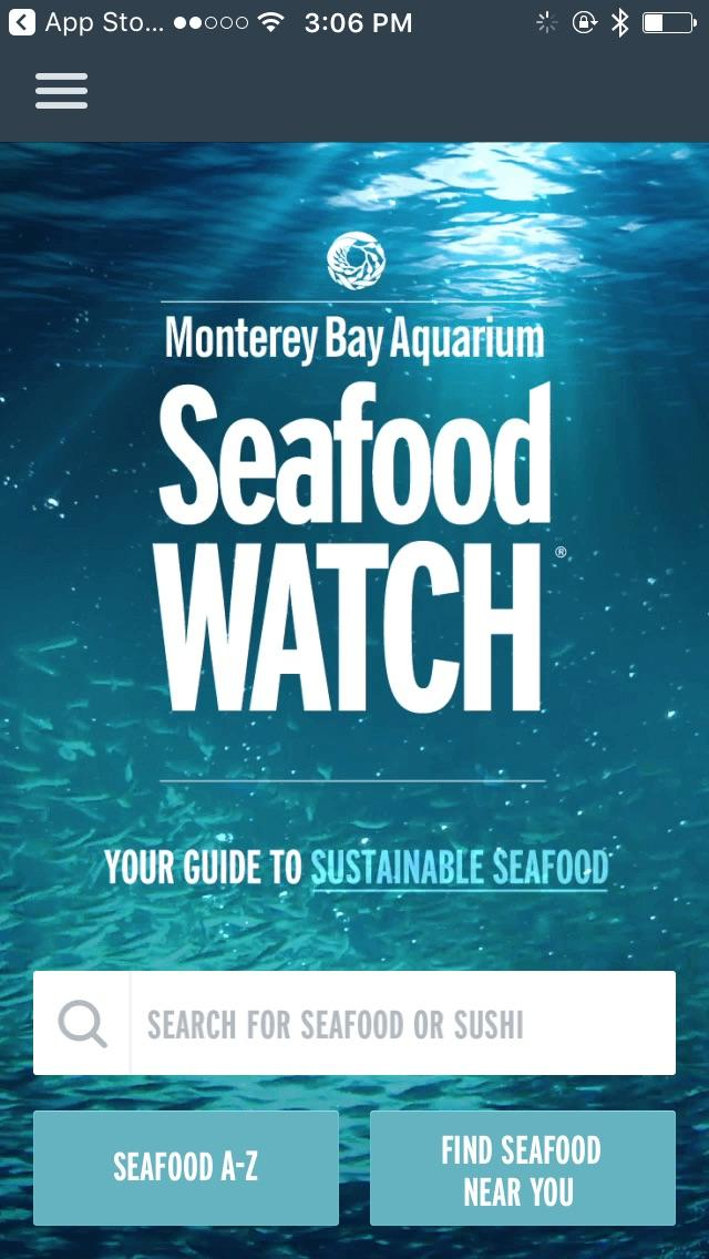 Seafood Watch green app