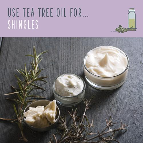 tea tree oil for shingles