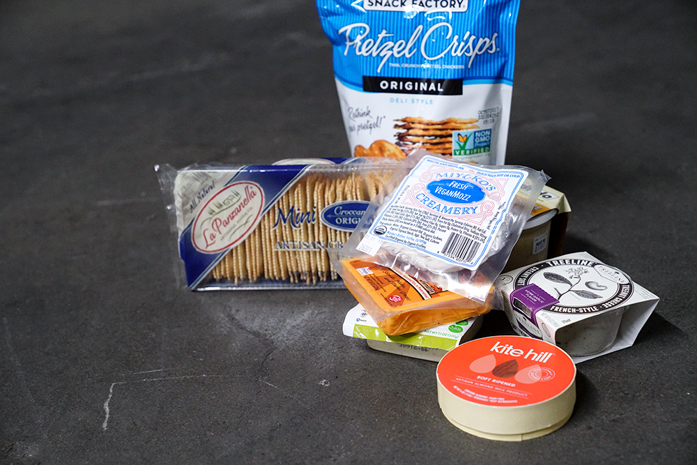 vegan cheese of various types