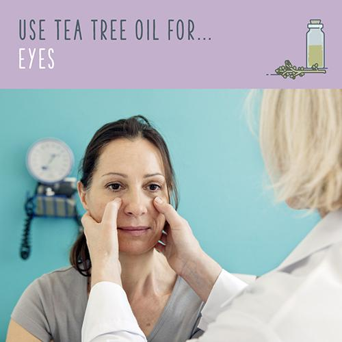 tea tree oil for eyes