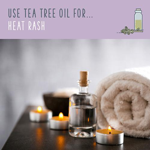 tea tree oil for heat rash