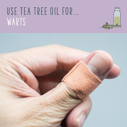 tea tree uses for warts