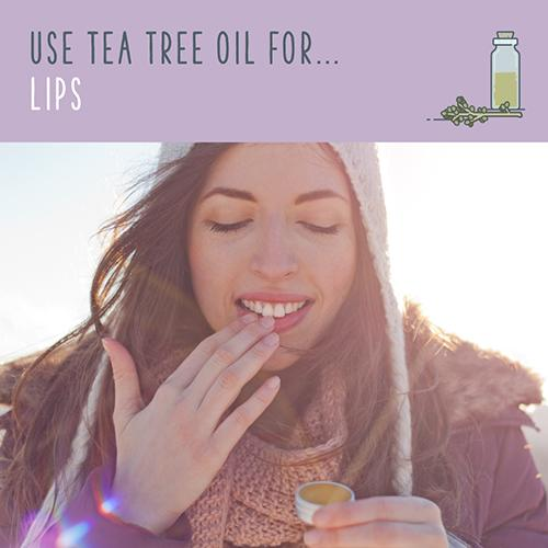 tea tree oil for lips