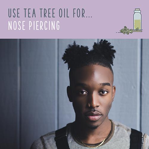 tea tree oil for nose piercing