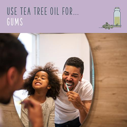tea tree oil for gums