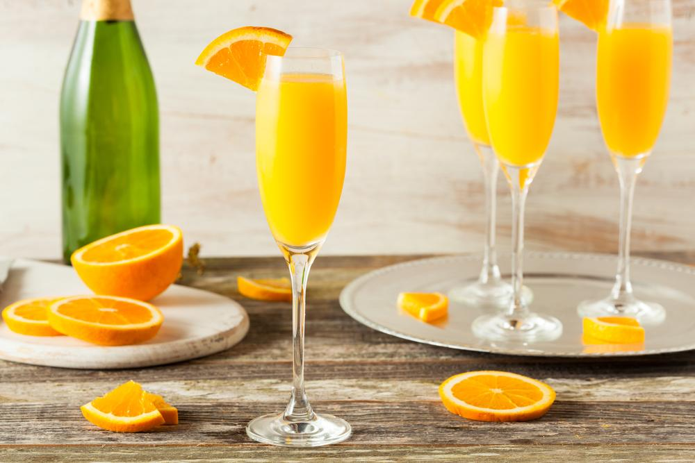 valentines day brunch mimosas