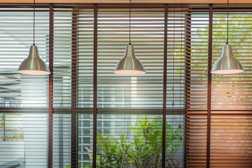 solar blinds inside a house