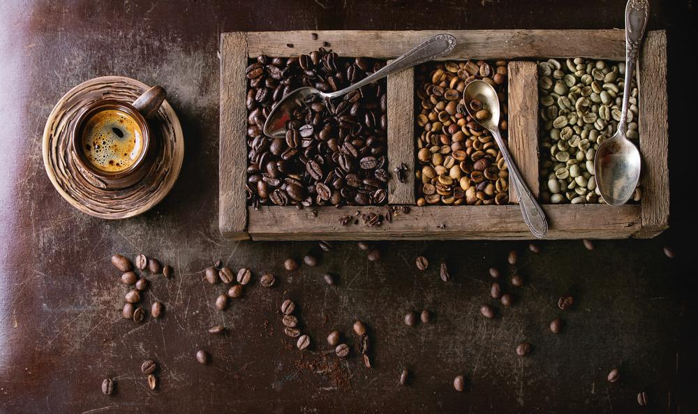 basket of fair trade coffee beans