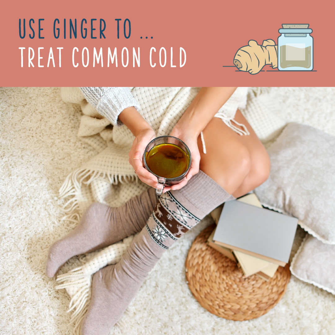 ginger plant common cold cure