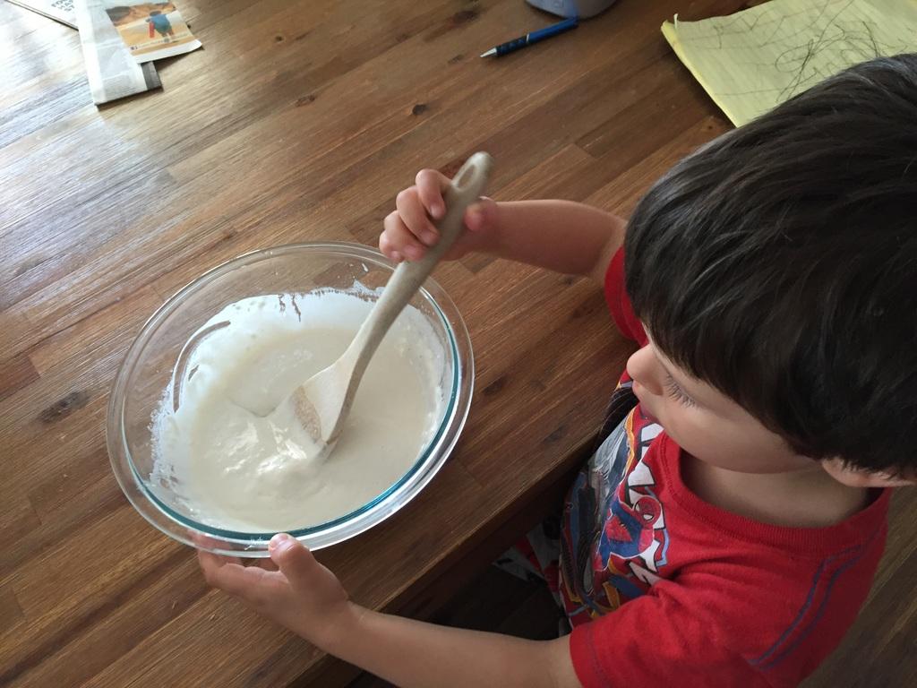 how to make a volcano step 3: make the papier mache