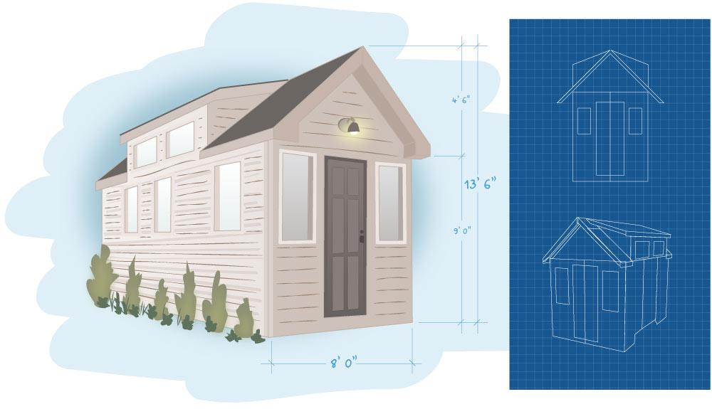 Tiny house plans how to build your own home for Build your own small home