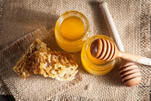 Honey on table