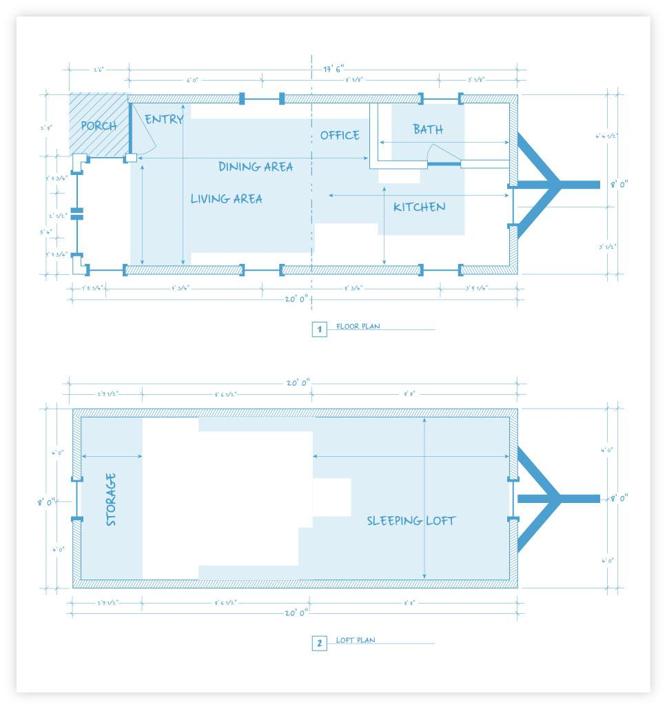 blueprints for tiny house plans