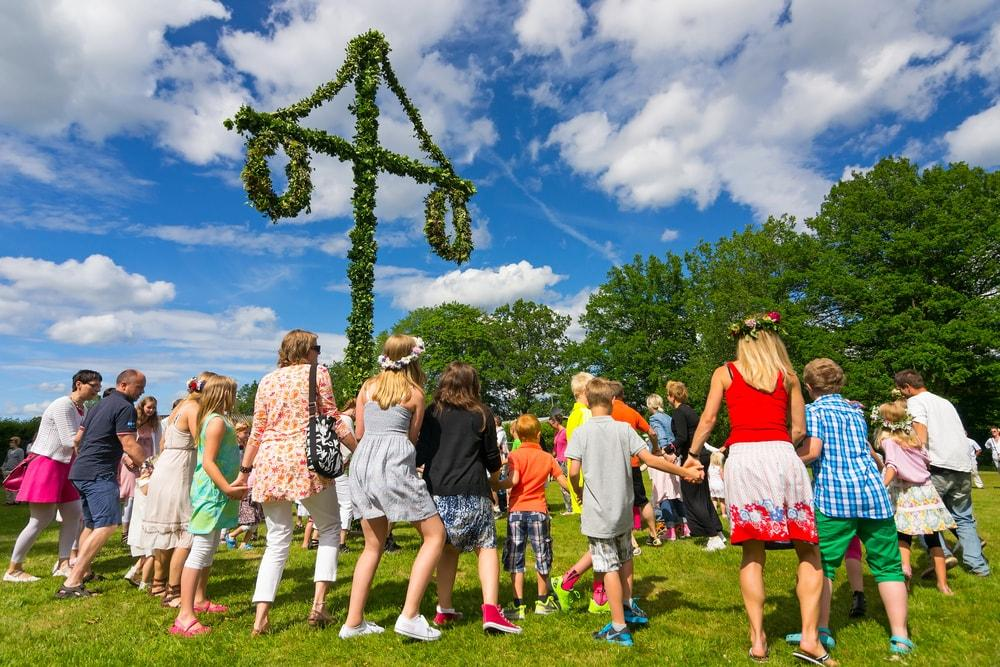 summer solstice 2017 festival in sweden