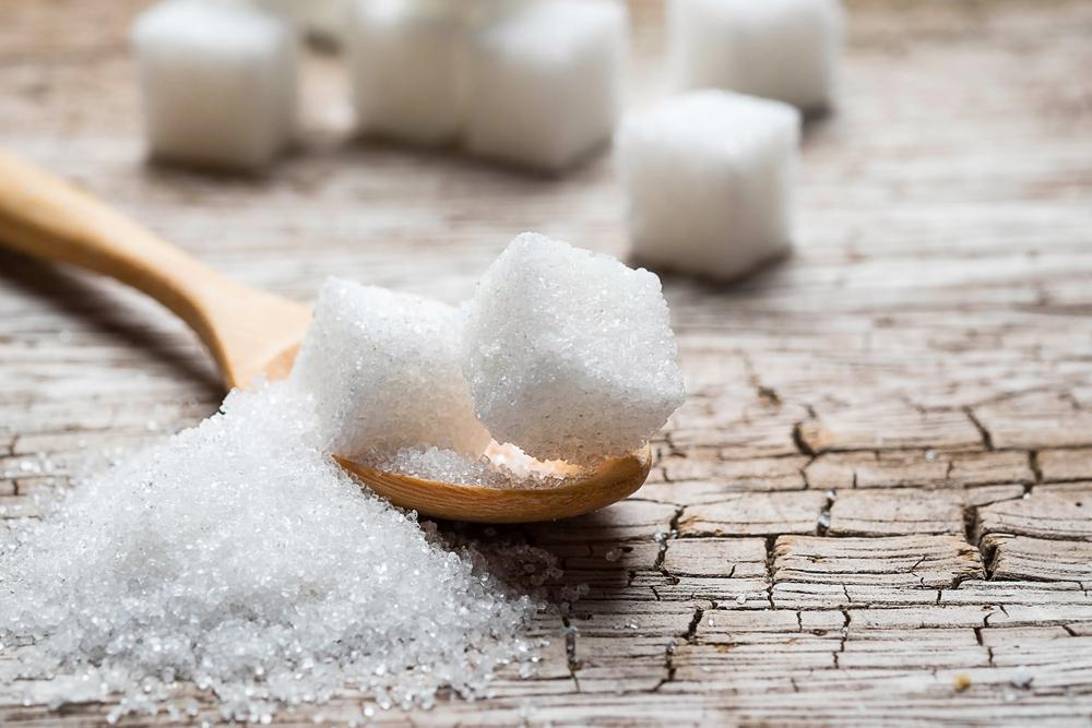 sugar on a wooden table