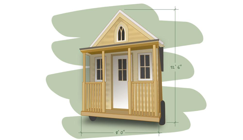 illustrated tiny house plans