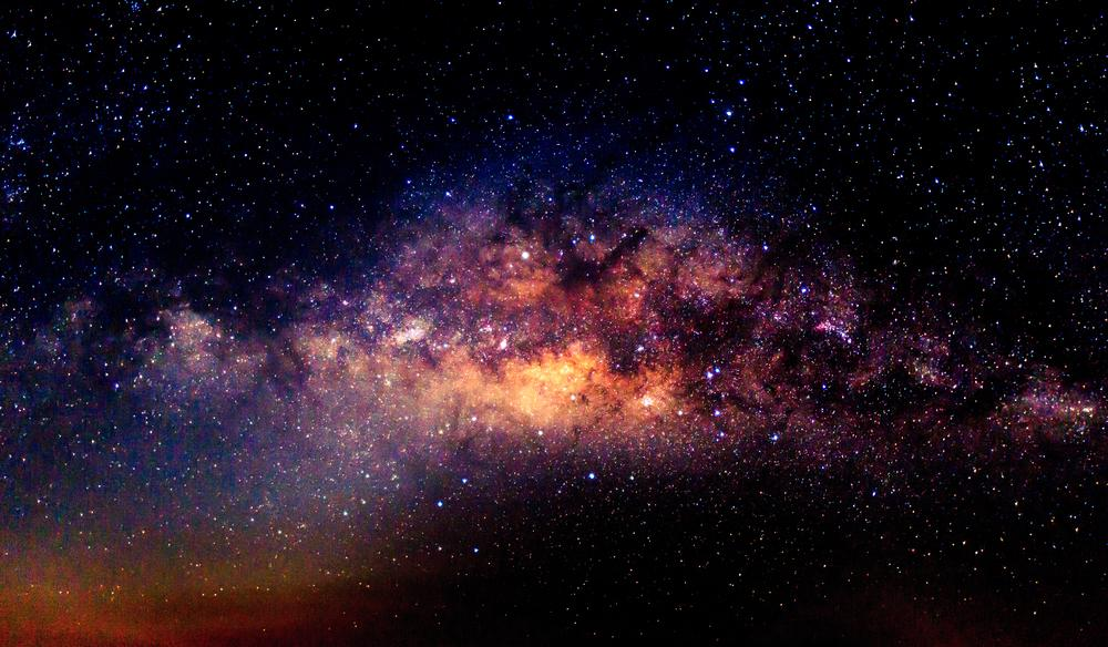 milky way galaxy to show how many stars are in the galaxy