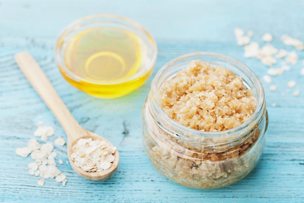 natural beauty product sugar scrub