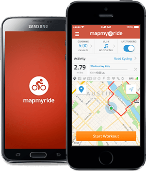 MapMyRide screenshot
