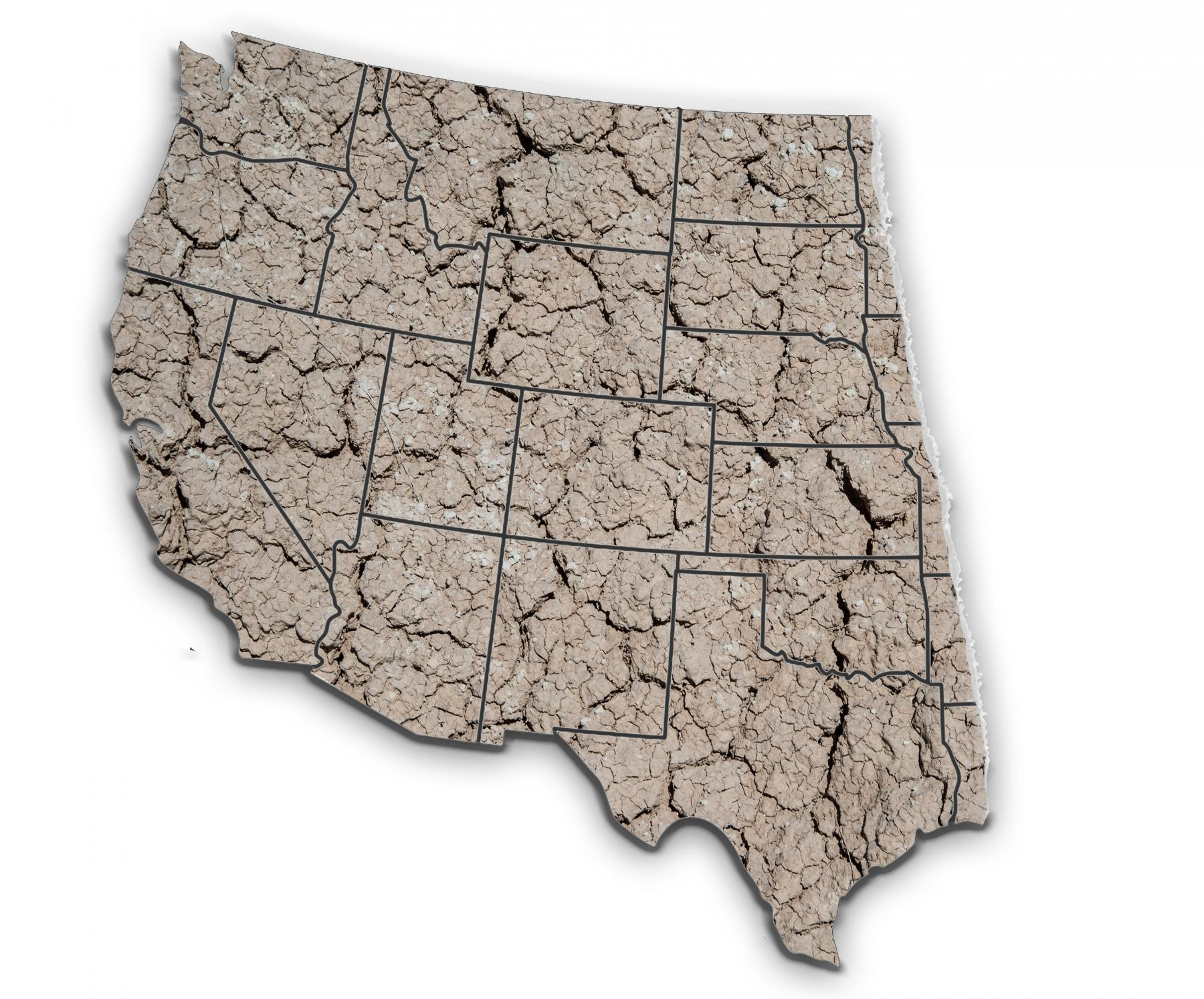 Crusted map of western states
