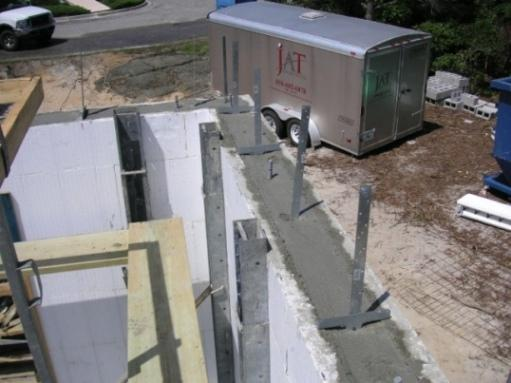 Insulated concrete forms for rock solid home energy efficiency for What temperature to pour concrete outside