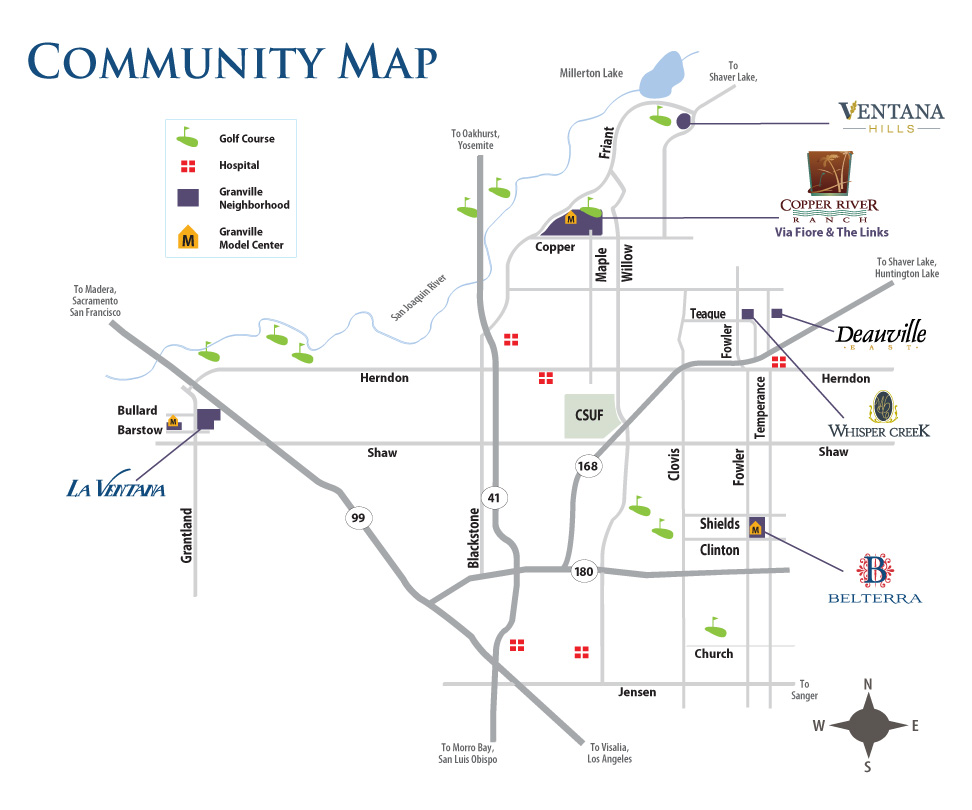 Granville Homes Communities in Fresno Clovis and Shaver Lake