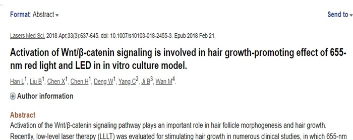 laser hair regenration therapy activates wnt signaling pathway