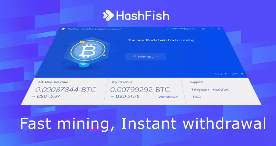 HashFish Crypto Miner | Fast mining, Instant withdrawal