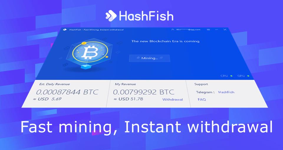 HashFish Crypto Miner | Fast mining, Instant withdrawal