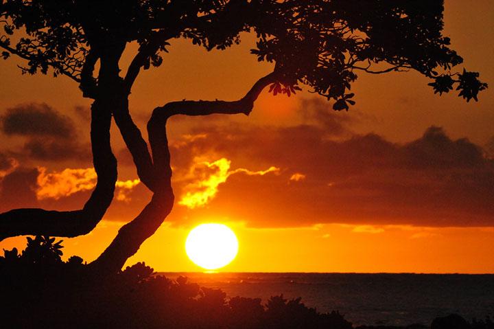 Sunset at Puako on the South Kohala coast. Photo courtesy of Thilo Salmon.