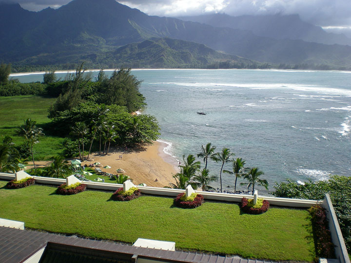 View of the beach from St. Regis Princeville.  Photo courtesy of sdluvingit via flickr.