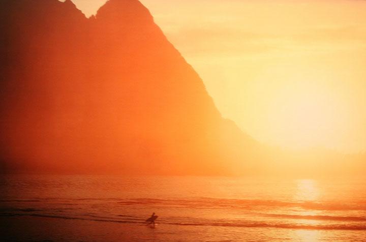 Surfing Kauai