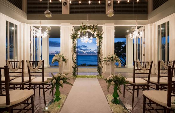 Turtle Bay Resort wedding with decorations by Jill Easley Designs.