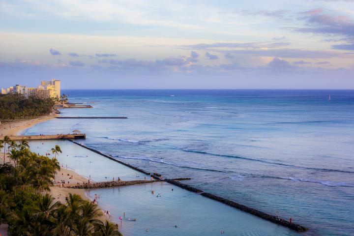 Waikiki Beach, Neal Kido