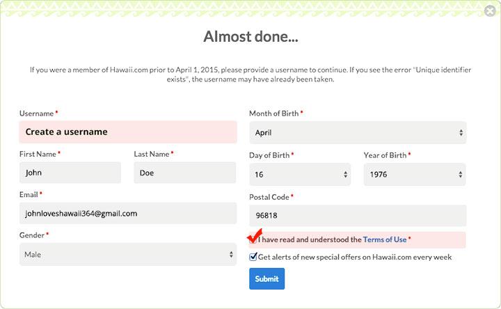 Step 2: Create a Username